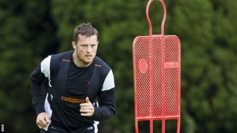 Jon Daly in training with Dundee United