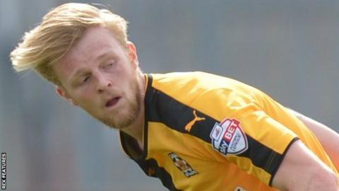 Cambridge United left-back Max Clark