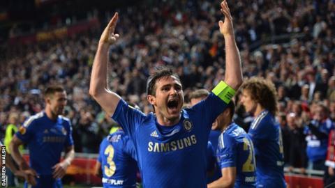 Lampard celebrating