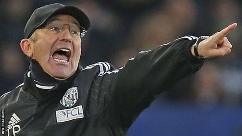 West Bromwich Albion boss Tony Pulis