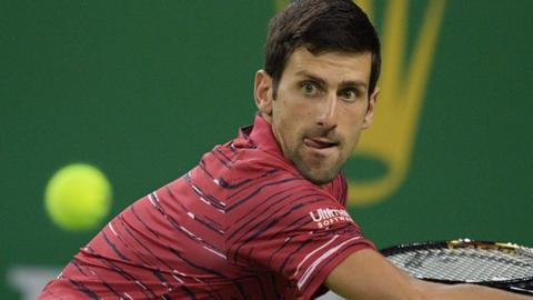 Novak Djokovic remains on course to defend his Shanghai Masters title