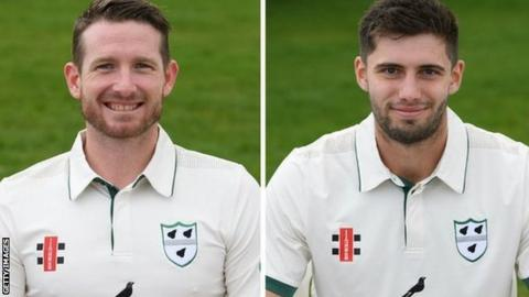 Riki Wessels (left) reached 100 for the 23rd time in first-class cricket on the day when debutant Josh Dell notched his first half-century