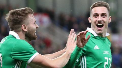 Stuart Dallas and Gavin Whyte scored in Northern Ireland's win over Israel