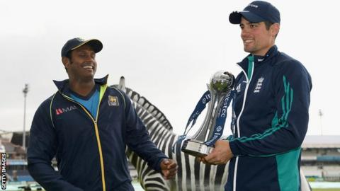 Angelo Mathews and Alastair Cook