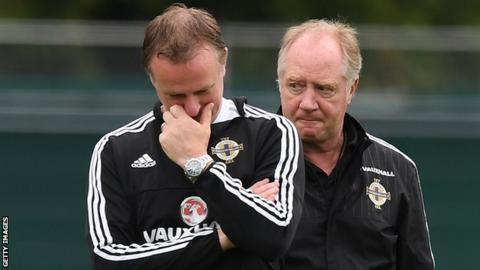 Northern Ireland management duo Michael O'Neill and Jimmy Nicholl