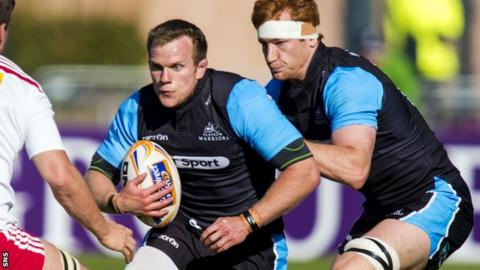 Glasgow Warriors forwards Chris Fusaro and Rob Harley