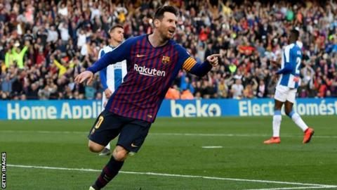 Lionel Messi scored 36 of Barcelona's 90 La Liga goals last season