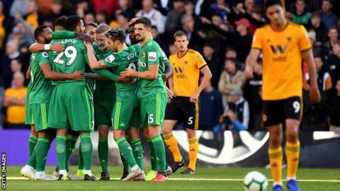 Watford celebrate a goal