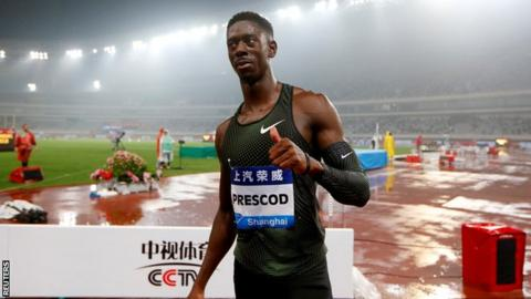 Prescod earns shock 100m win at Shanghai Diamond League meeting