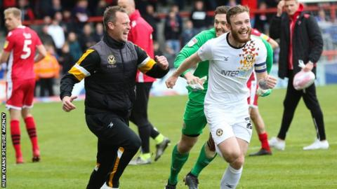 Michael Flynn: Newport manager's rise from would-be estate