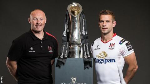Ulster Head Coach Neil Doak and scrum-half Paul Marshall