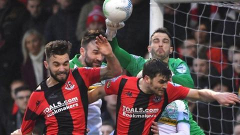 Cliftonville's win was their first at Seaview in a Boxing Day north Belfast derby for 10 years