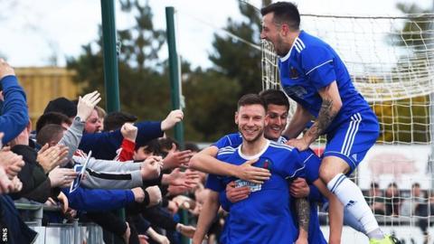 Cove Rangers celebrate Mitch Megginson's goal