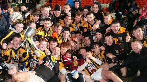 Celebrations for Crossmaglen Rangers as the Armagh champions clinch an 11th provincial triumph