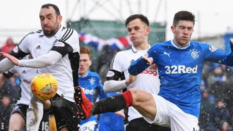 Ayr United played Rangers in the Scottish Cup last season