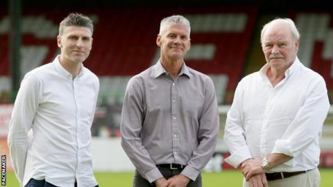 Leeman, Smyth and McFall will form part of the new management team at the Oval