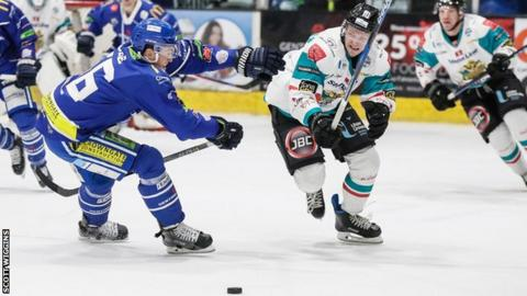Sebastien Sylvestre tries to set up an attack for Belfast in Coventry
