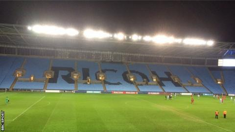 Coventry closed an entire stand at the Ricoh Arena for the home Checkatrade Trophy tie against Crawley