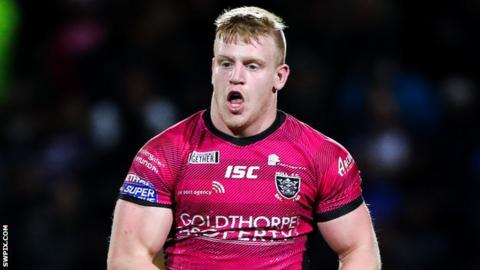 Brad Fash in action for Hull FC