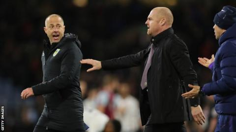 Ian Woan with Burnley manager Sean Dyche
