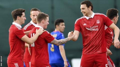 Jonny Hayes scored inside the first minute against Bunyodkor in Dubai
