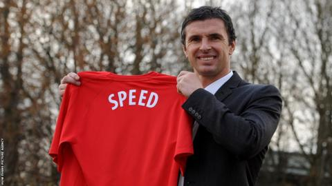 2010: Wales' most capped outfield player and former captain Gary Speed is appointed John Toshack's successor.