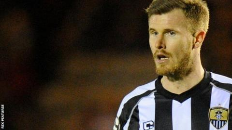Michael O'Connor in action for Notts County