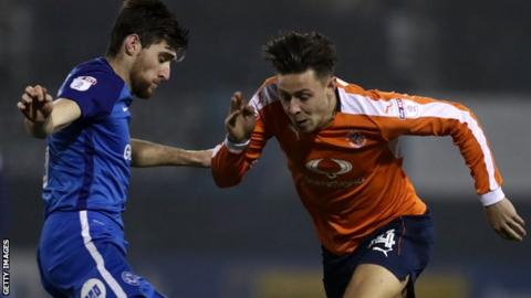 Luton Town v Peterborough United in the Checkatrade Trophy