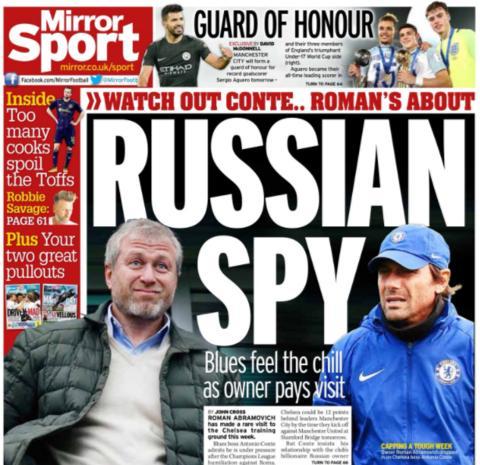 Daily Mirror on Saturday