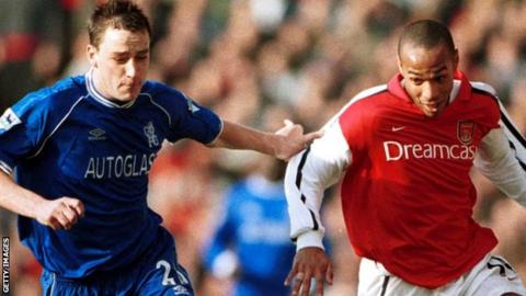 John Terry and Thierry Henry in opposition in 2001