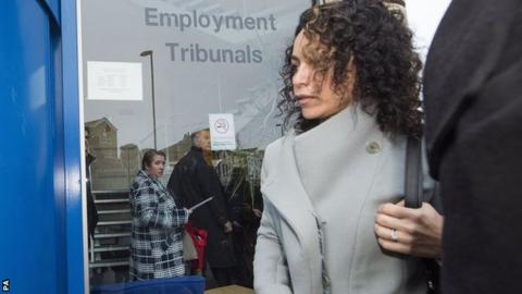 Eva Carneiro arriving at Croydon Employment Tribunal