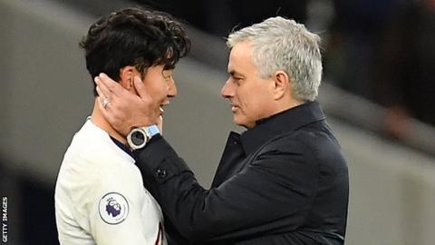 Jose Mourinho and Son