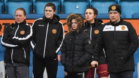 Wolecki Black (right) is back for a second spell in charge of Motherwell