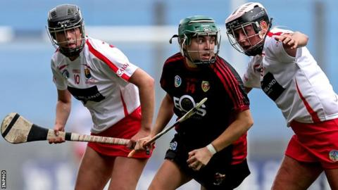 Down's Niamh Mallon (centre)