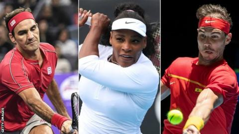Roger Federe, Serena Williams and Rafael Nadal