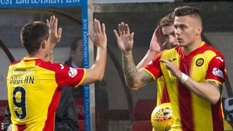 Partick Thistle's Kris Doolan is replaced with Miles Storey
