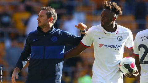 Frank Lampard and Tammy Abraham