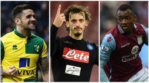 Robbie Brady, Manolo Gabbiadini and Jordan Ayew