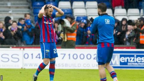 Inverness Caledonian Thistle have been relegated from the Premiership