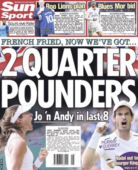 The Sun references Chelsea's move for Alvaro Morata