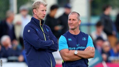 Leinster head coach Leo Cullen and senior coach Stuart Lancaster