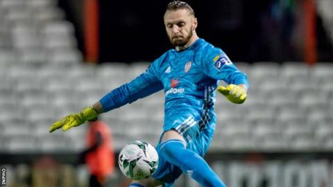 Derry keeper Peter Cherrie put in an impressive display in the league draw