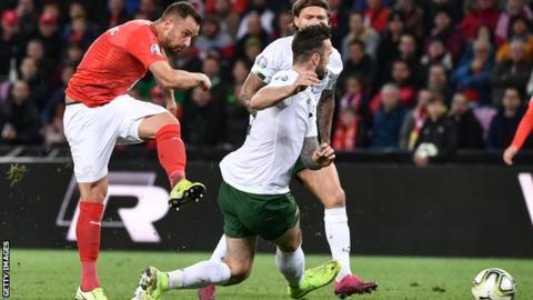 Haris Seferovic put the Swiss ahead after only 16 minutes
