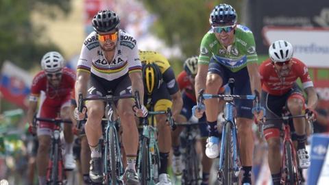 Peter Sagan and Alejandro Valverde