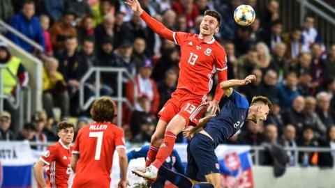 Slovakia 1 1 Wales Kieffer Moore Goal Keeps Wales Euro