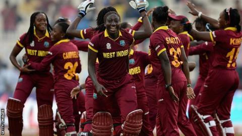 West Indies celebrate winning the Women's World Twenty20 final