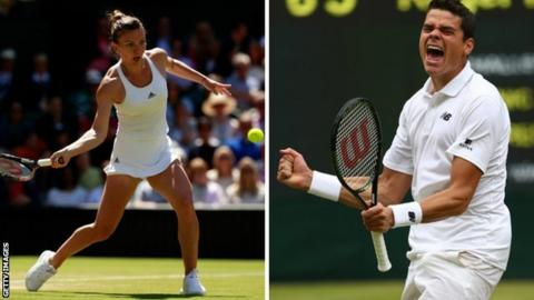 Simona Halep and Milos Raonic