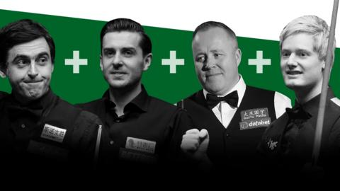 Ronnie O'Sullivan, Mark Selby, John Higgins and Neil Robertson