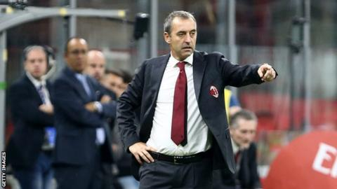 Milan sack manager Giampaolo after just seven games