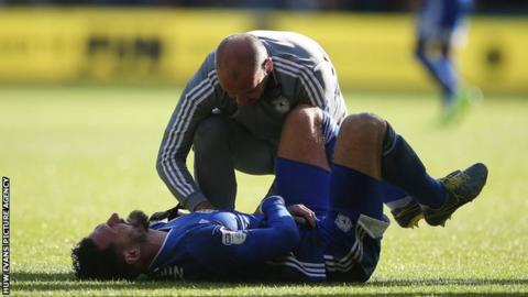 Sean Morrison was injured during Cardiff's defeat at Swansea